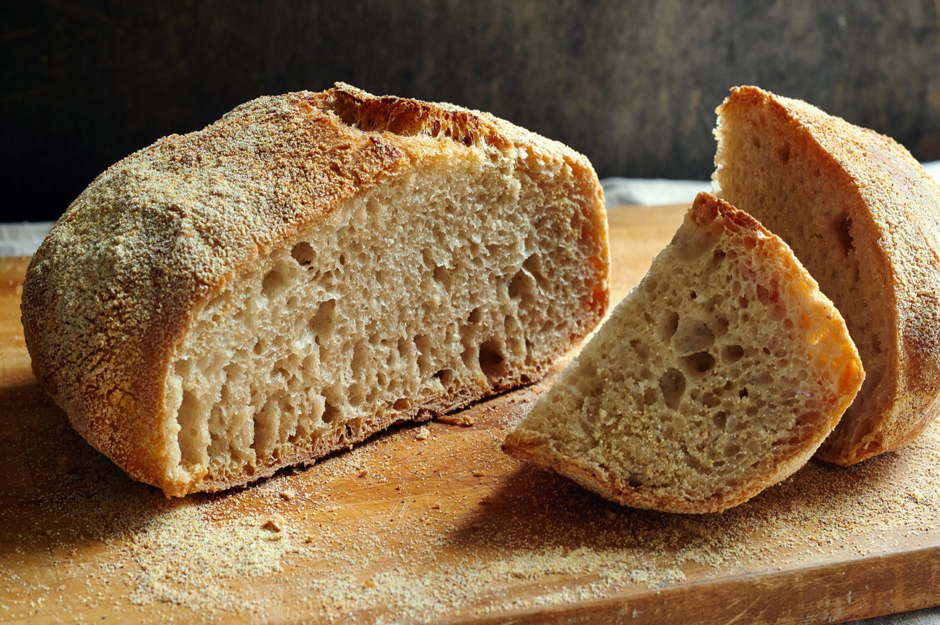 bread made with untreated flour