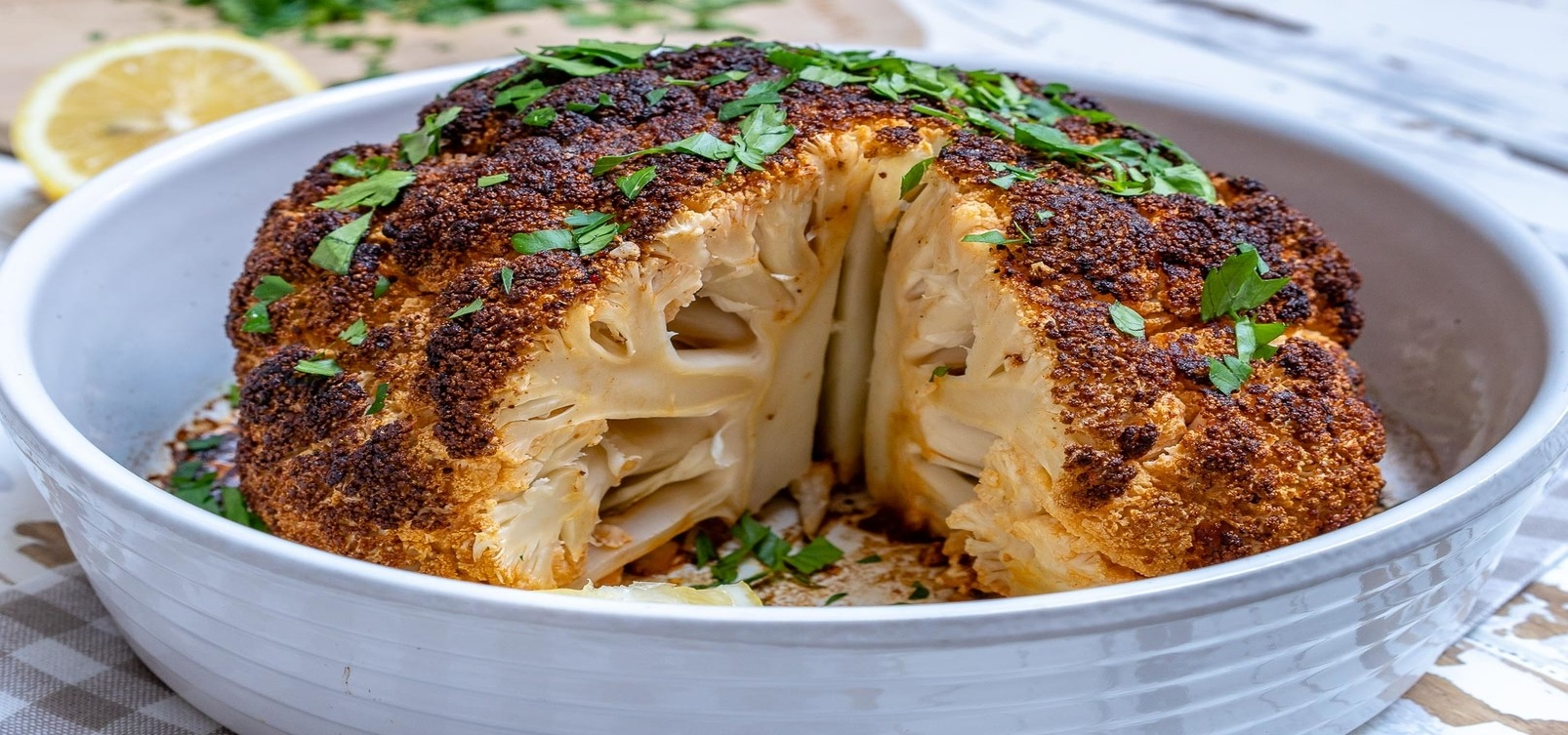Whole Roasted Cauliflower Cheese